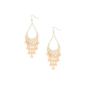 Gold Dangle Gypsy Drop Earrings,
