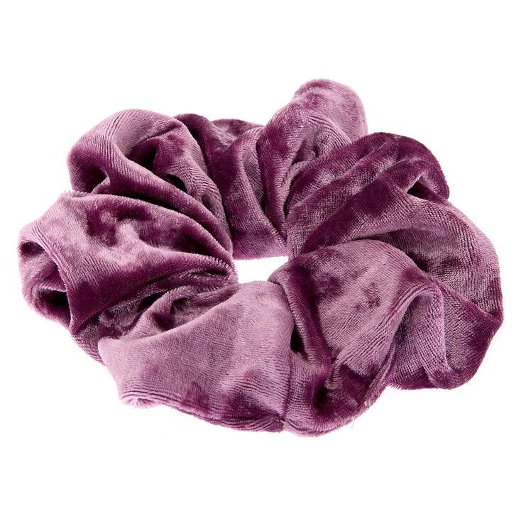 Medium Velvet Hair Scrunchie - Lilac,