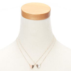 Best Friends Marble Heart Pendant Necklaces - 2 Pack,