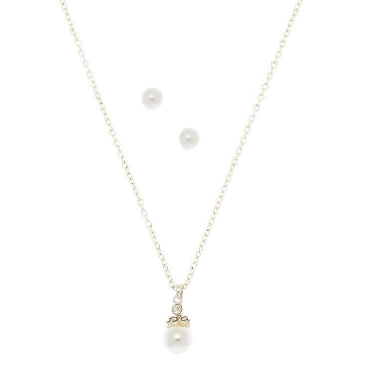 Elegant Pearl Jewelry Set - 2 Pack,