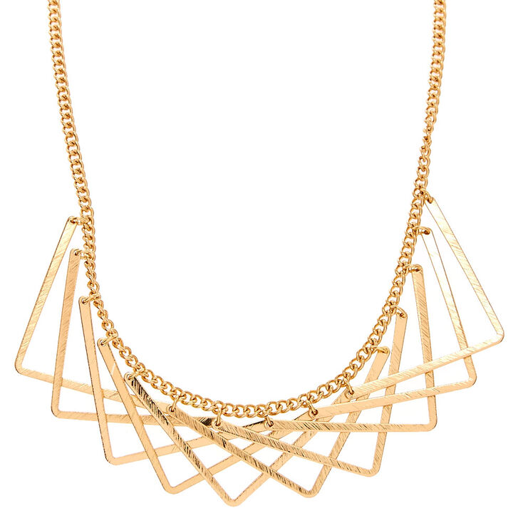 Golden Angle Statement Necklace,