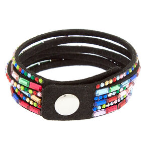 Studded Layered Statement Bracelet - Rainbow,