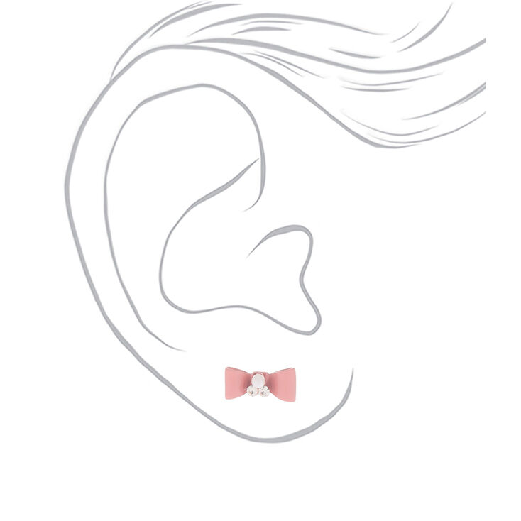 Rose Gold Chic Stud Earrings - 6 Pack,