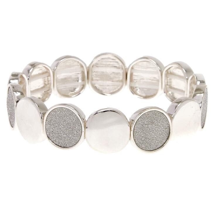 Silver-Tone Disc Stretch Bracelet,