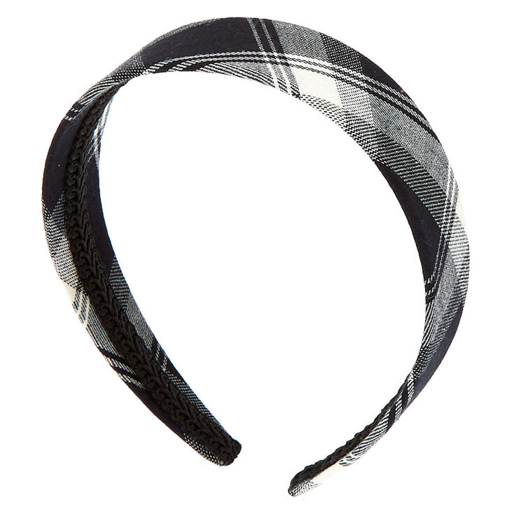 Plaid Headband - Black,