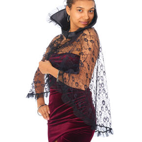 Lace Cape - Black,