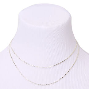 Silver Multi Strand Chain Necklace,
