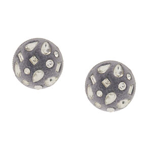 Velvet Glam Button Post Earrings,