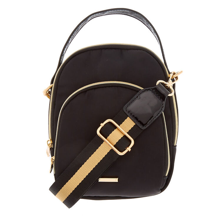 Messenger Crossbody Bag - Black,
