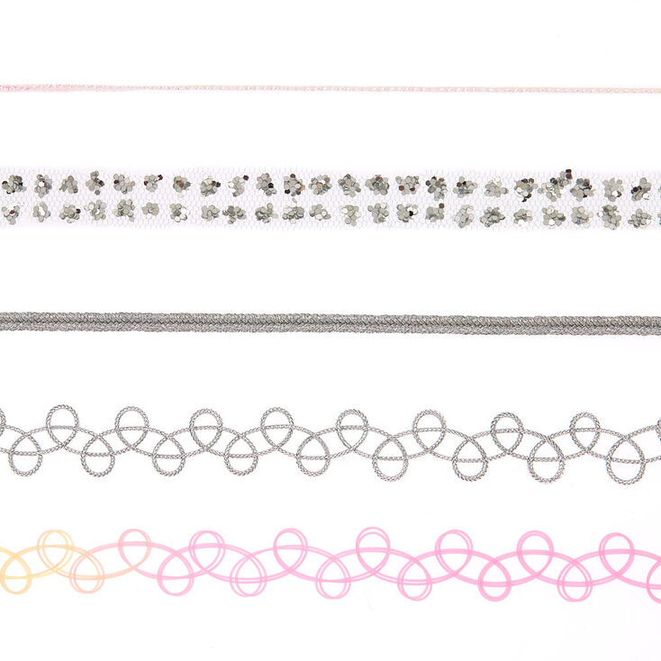 Tattoo Choker Necklace Set - 5 Pack,