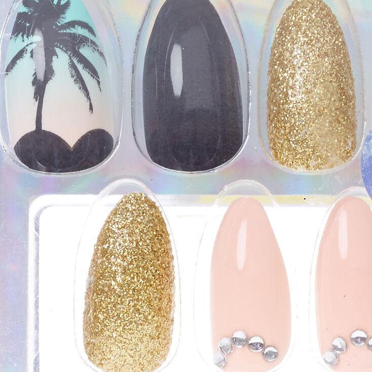 Sunset Stiletto Instant Nails,