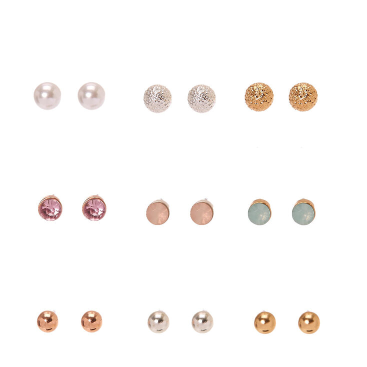Pearl Opal & Crystal Studs Multi Pack,
