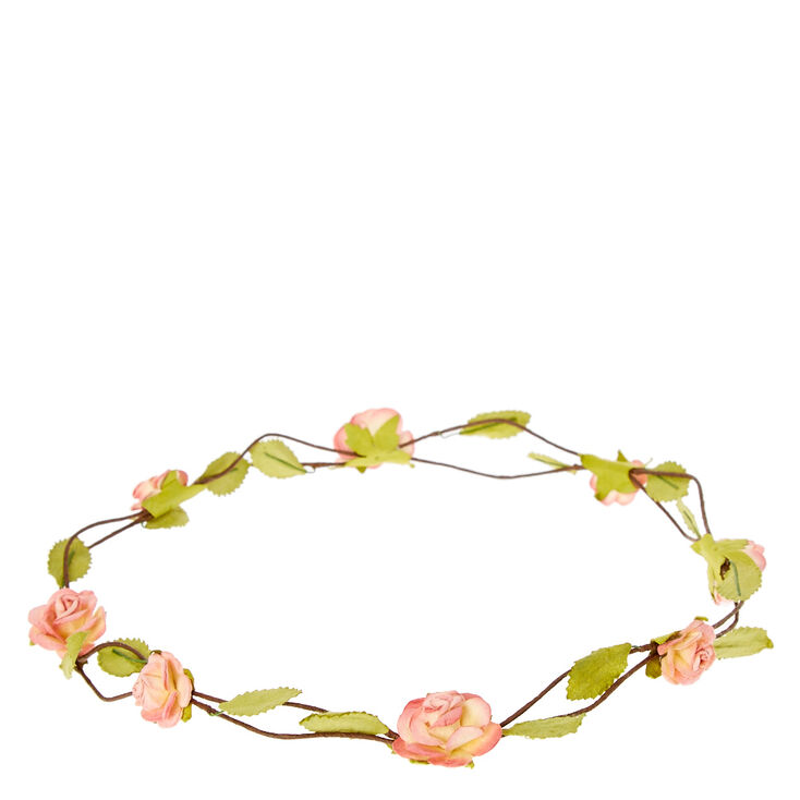 Pink Rosette Flower Flower Crown Crown,