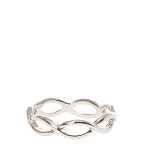 Silver Toned Infinity Wrap Ring,
