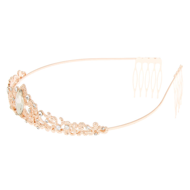 Rose Gold Filigree Princess Tiara,