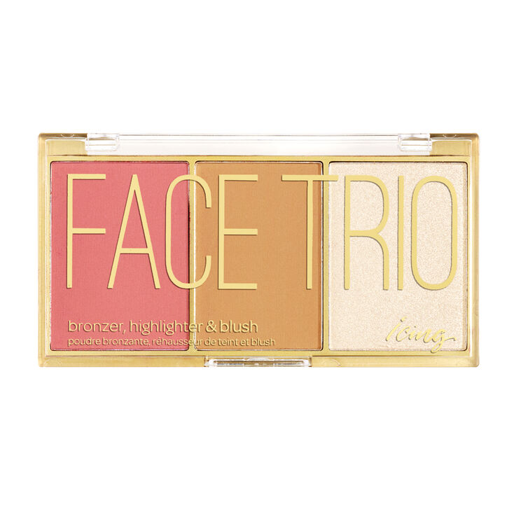 Bronzer, Highlighter & Blush Face Trio Palette,