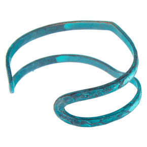 Painted Metal Cuff Bracelet - Turquoise,