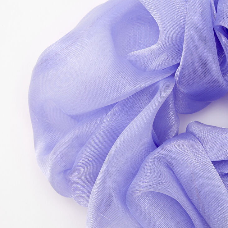 Giant Organza Hair Scrunchie - Periwinkle,