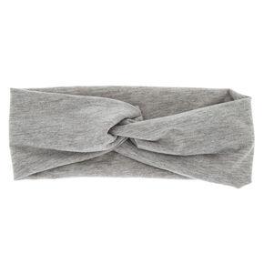 Wide Jersey Marled Headwrap - Gray,