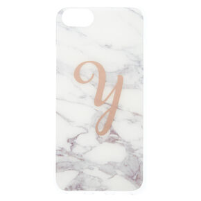Marble Y Initial Phone Case - Fits iPhone 6/7/8,
