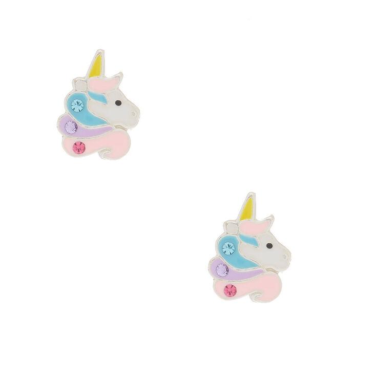 Sterling Silver Sherbet Unicorn Earrings,