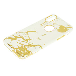 Metallic Gold Marble Phone Case - Fits iPhone X/XS,