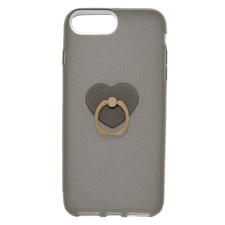 Glitter Heart Ring Holder Phone Case - Fits iPhone 6/7/8 Plus,