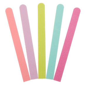 Pastel Rainbow Nail Files - 5 Pack,