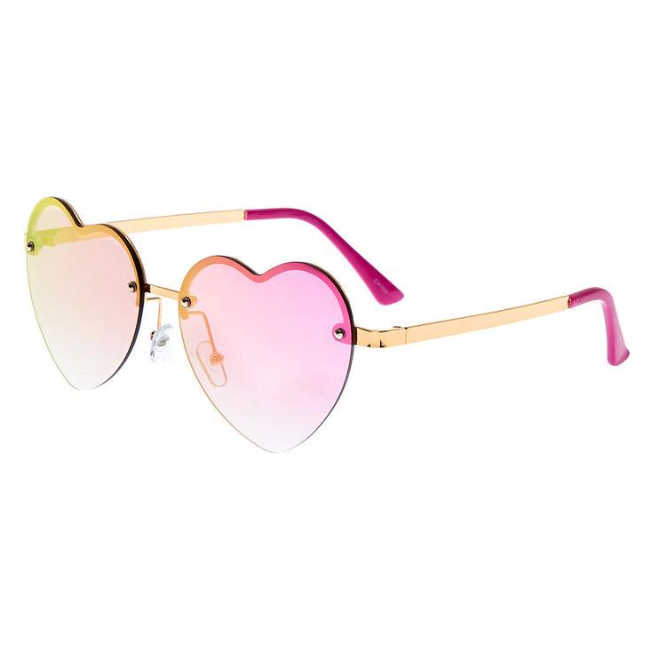 Retro Sunglasses   Vintage Glasses   New Vintage Eyeglasses Icing Rimless Heart Sunglasses - Pink $16.99 AT vintagedancer.com