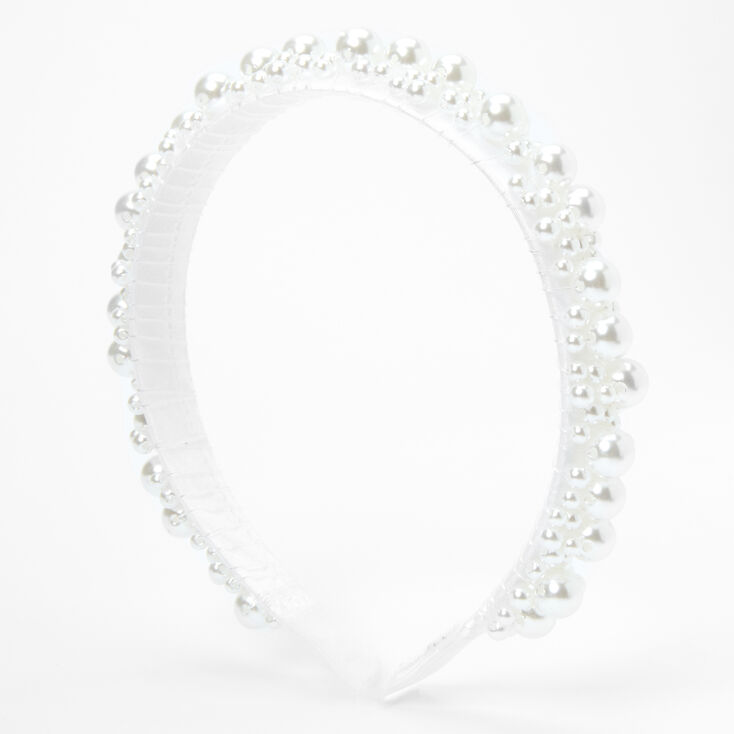 Bubble Pearl Headband - White,