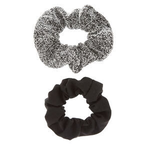 Black & Sweater Gray Scrunchies - 2 Pack,