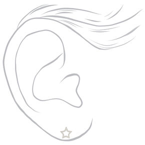 Sterling Silver Celestial Stud Earrings - 3 Pack,
