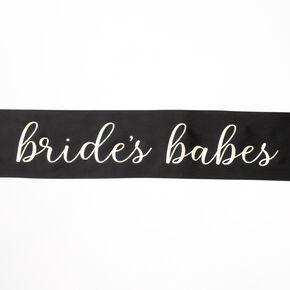 Bride's Babes Sash - Black,