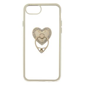 Heart Ring Stand Phone Case - Fits iPhone 6/7/8 Plus,