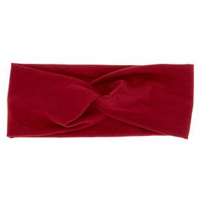 Wide Jersey Headwrap - Burgundy,