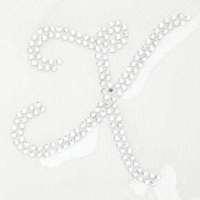 Rhinestone Iron-On Initial - X,