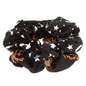 Halloween Velvet Scrunchies - Black, 2 Pack,