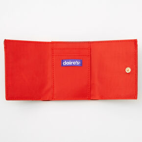 Red Heart Trifold Wallet - Black,