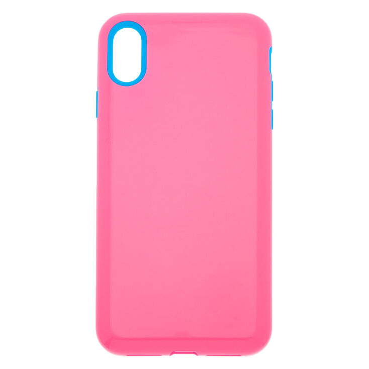 Pink & Blue Protective Phone Case - Fits iPhone XR,