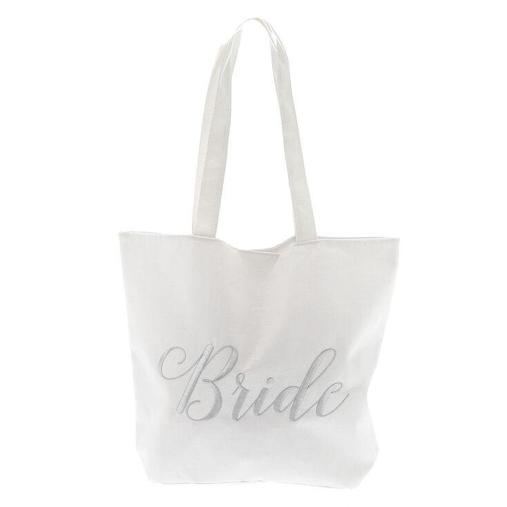 Bride Tote Bag - White,