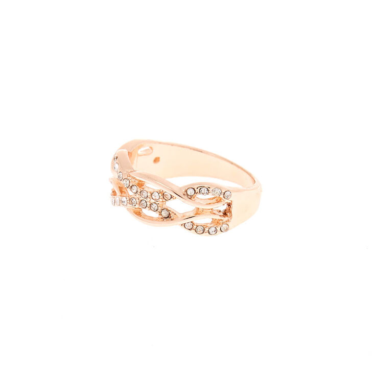 Rose Gold Double Woven Ring,