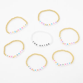 The Bride & The Party Beaded Stretch Bracelets - 7 Pack,