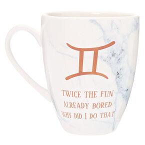 Ceramic Marble Zodiac Mug - Gemini,