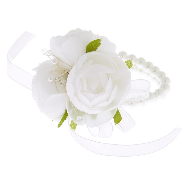 Classic Pearl Corsage - White,
