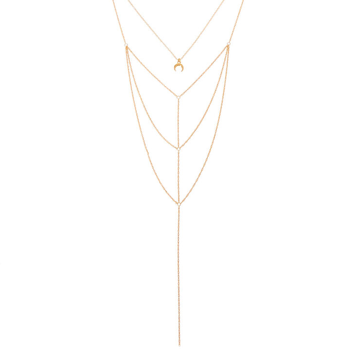 Gold Moon Multi-Strand Necklace,