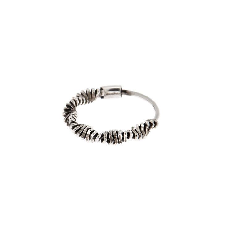 Sterling Silver Slinky Cartilage Hoop Earring,