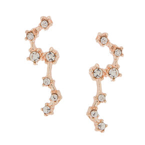Rose Gold Constellation Stud Earrings,