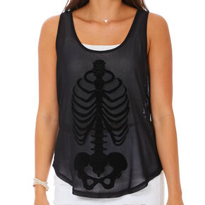 Skeleton Tank Top - Black,