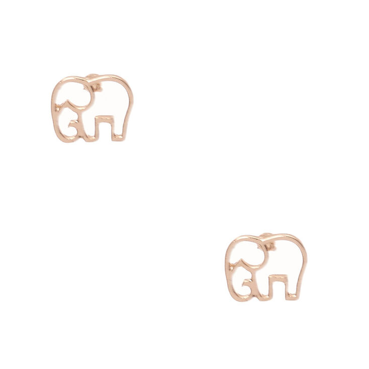 18kt Rose Gold Plated Elephant Studs,