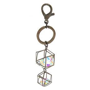 Geometric Crystal Keychain - Hematite,